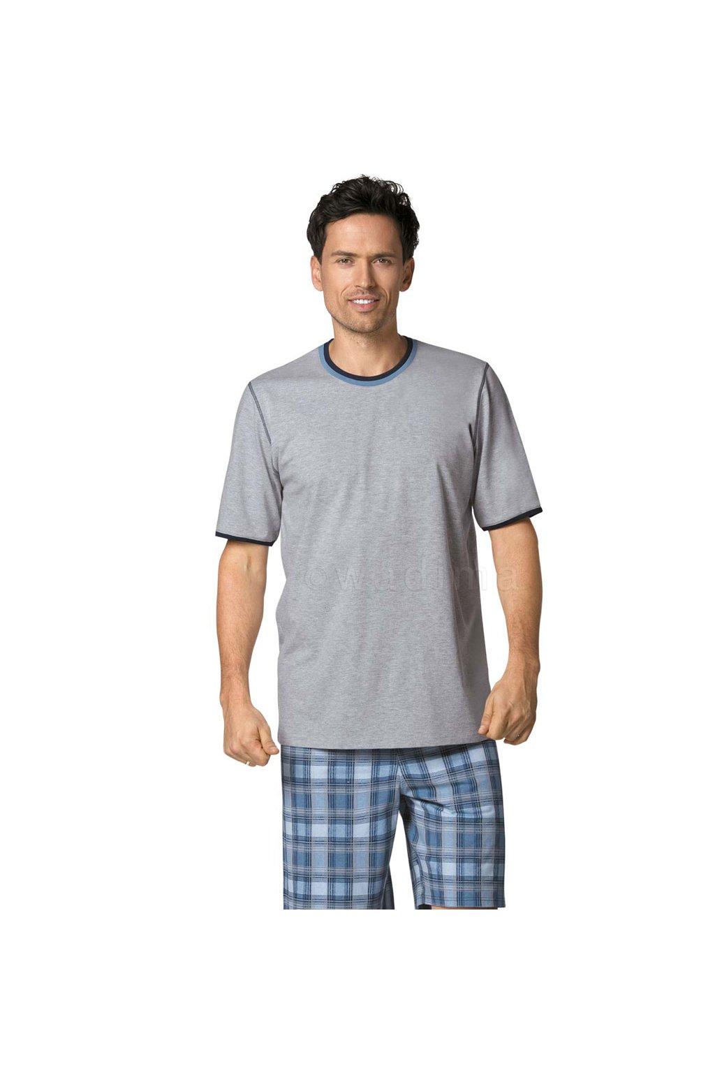 Pánské pyžamo s krátkým rukávem, 20477 30, šedá