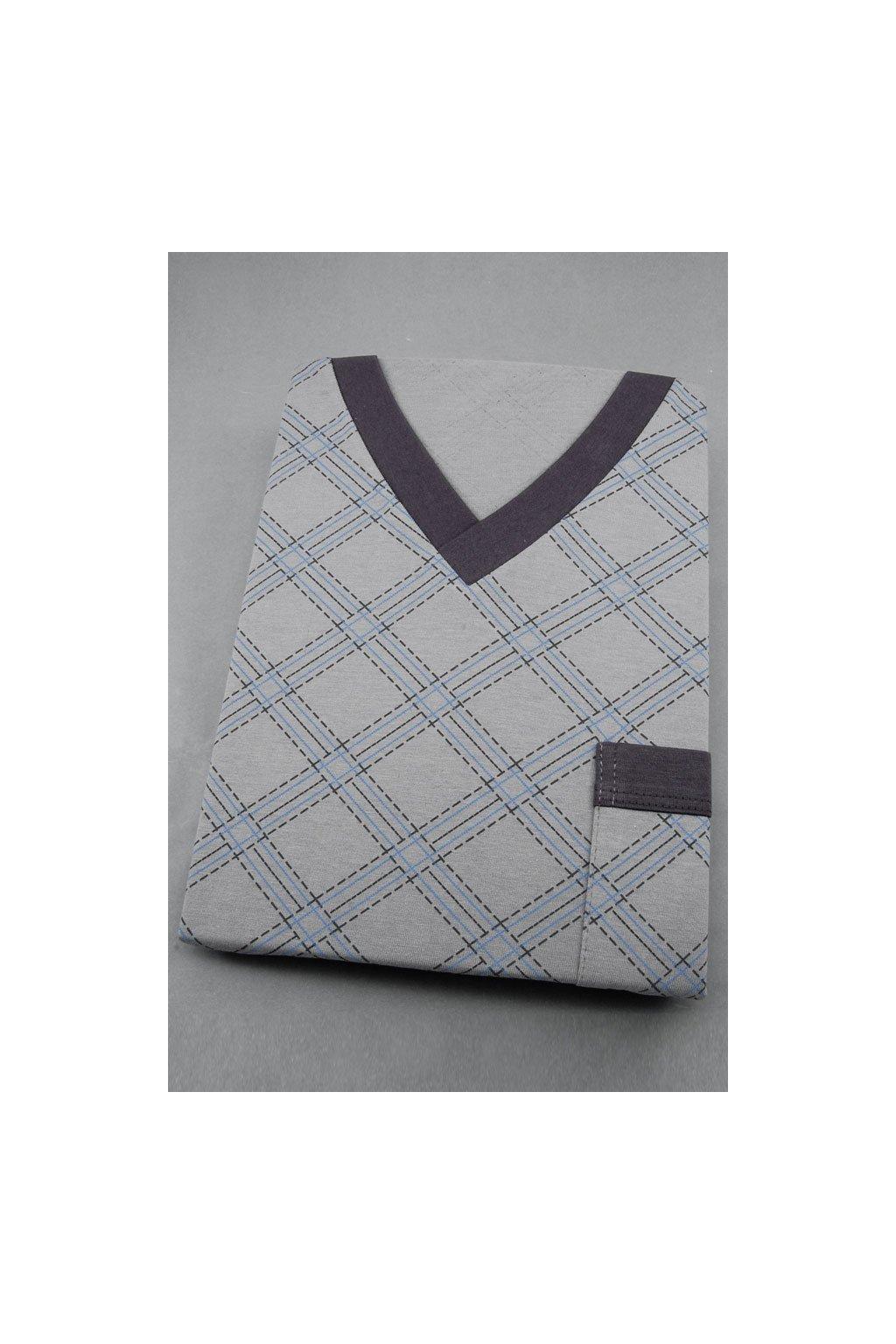 Pánské pyžamo s dlouhým rukávem, 204ERNESTd 779, šedá