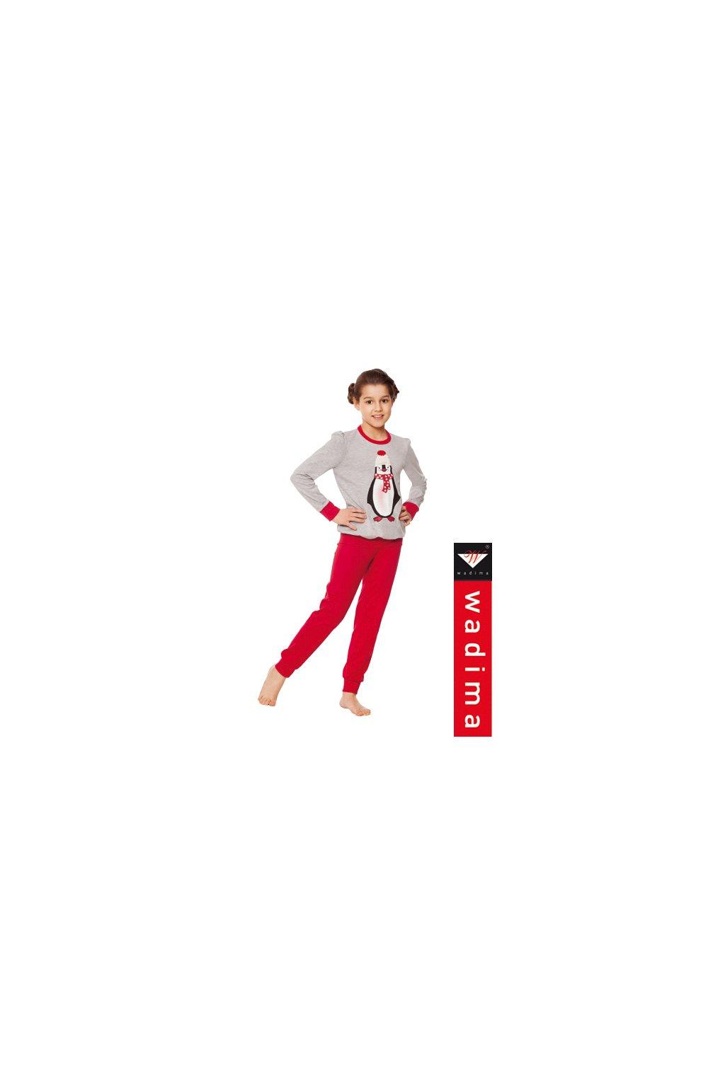 Dívčí pyžamo, 404116 839, šedá/červená