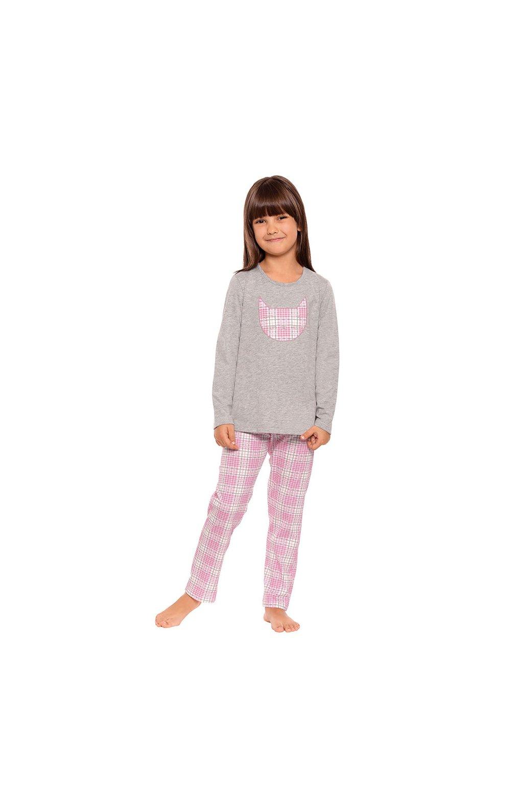 Dívčí pyžamo s dlouhým rukávem, 404151 30, šedá