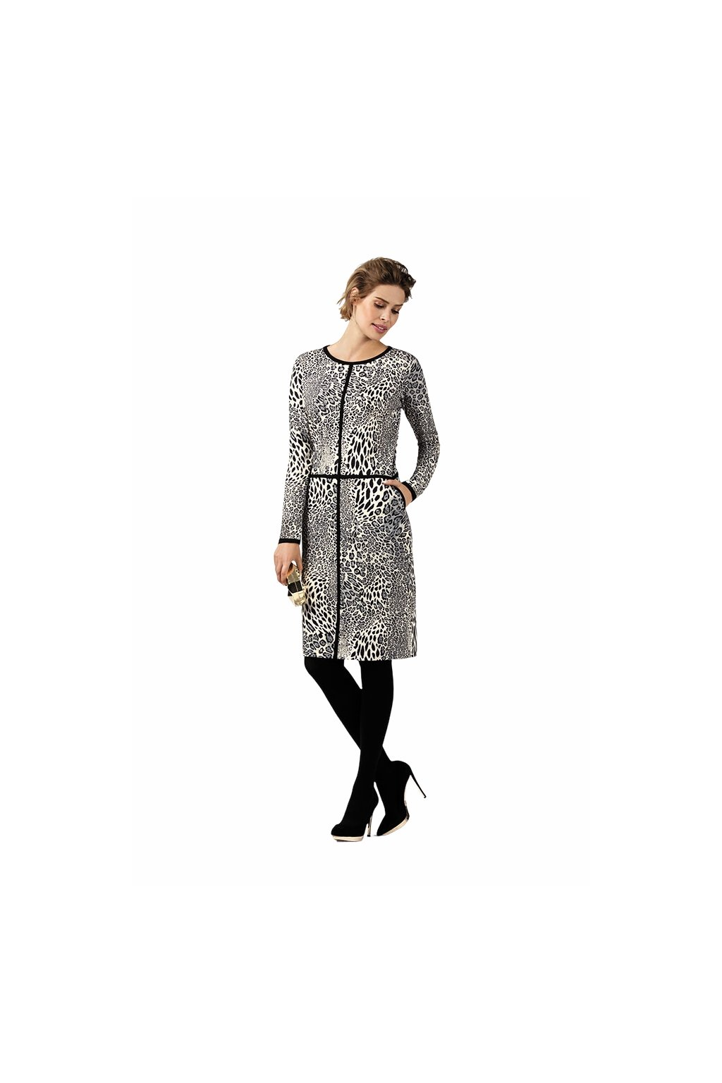 Dámské šaty s dlouhým rukávem, 10570 218, šedá