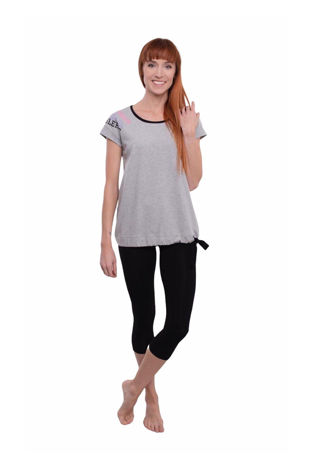 Dámské pyžamo s krátkým rukávem a 3/4 nohavicemi, 104556 30, šedá