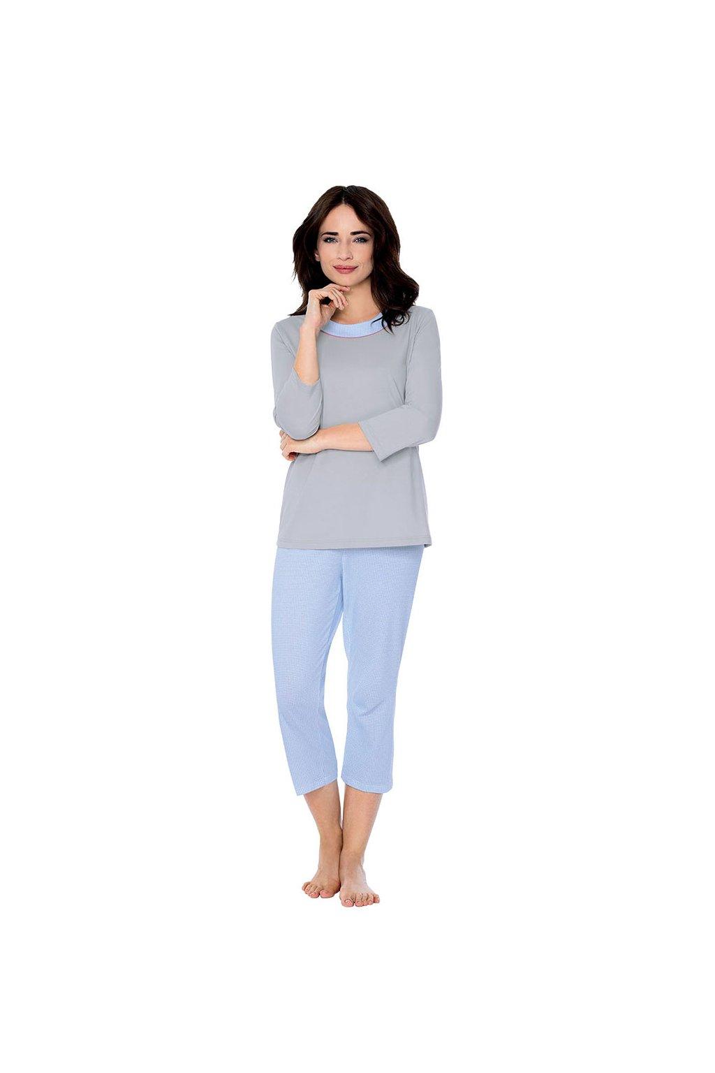Dámské pyžamo s 3/4 rukávem, 104492 271, šedá