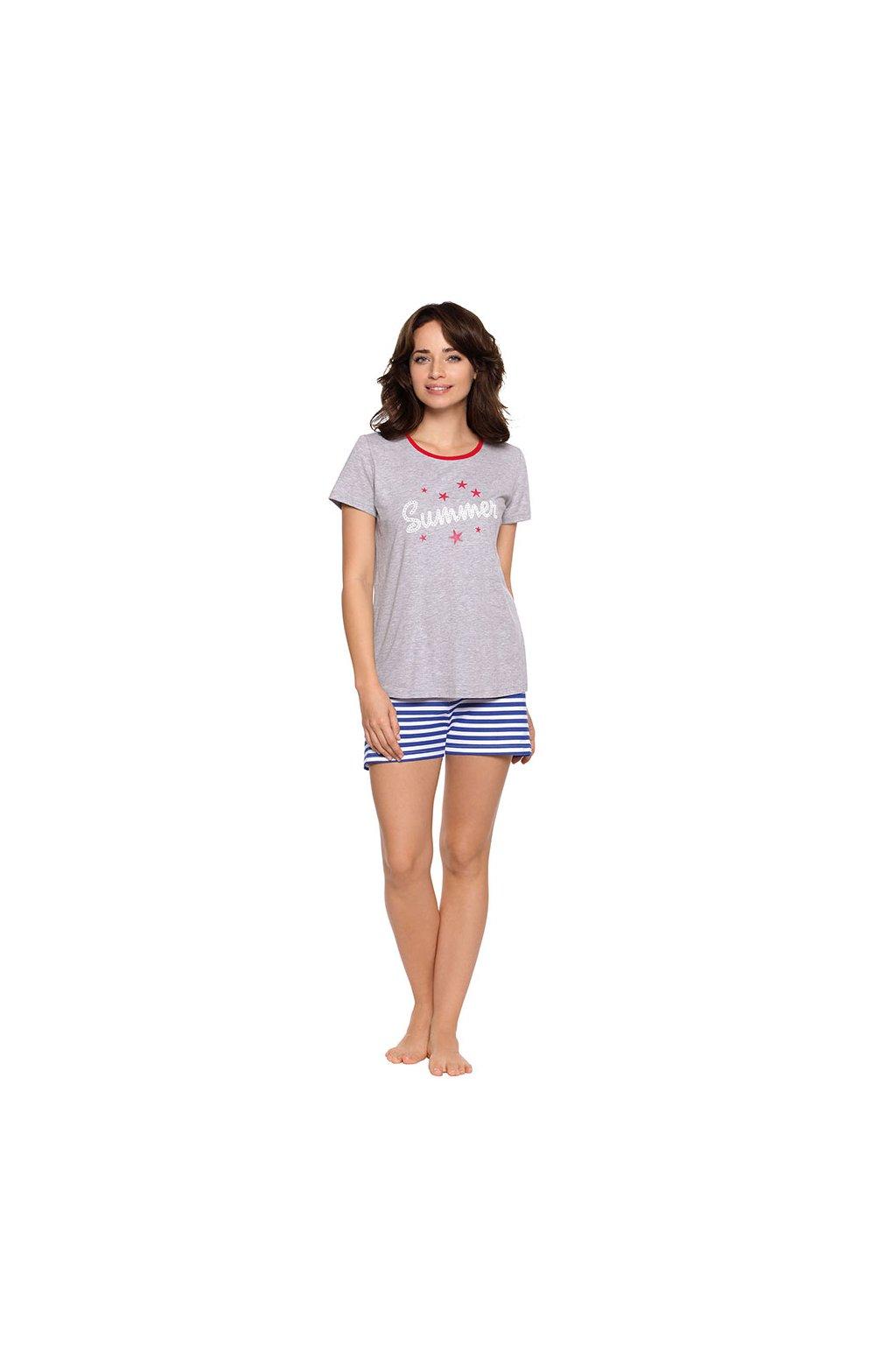 Dámské pyžamo s krátkým rukávem, 104474 30, šedá