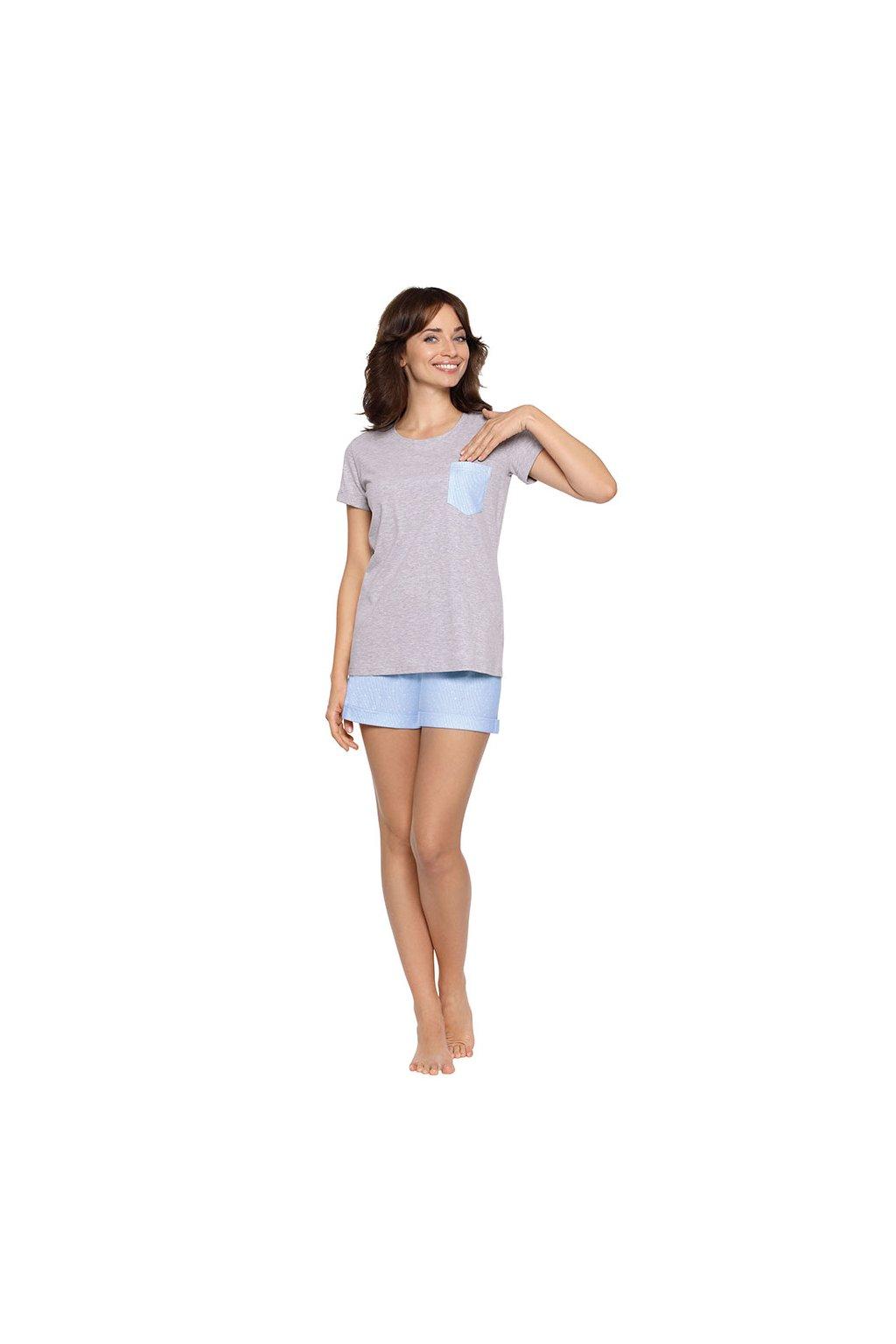 Dámské pyžamo s krátkým rukávem, 104472 30, šedá