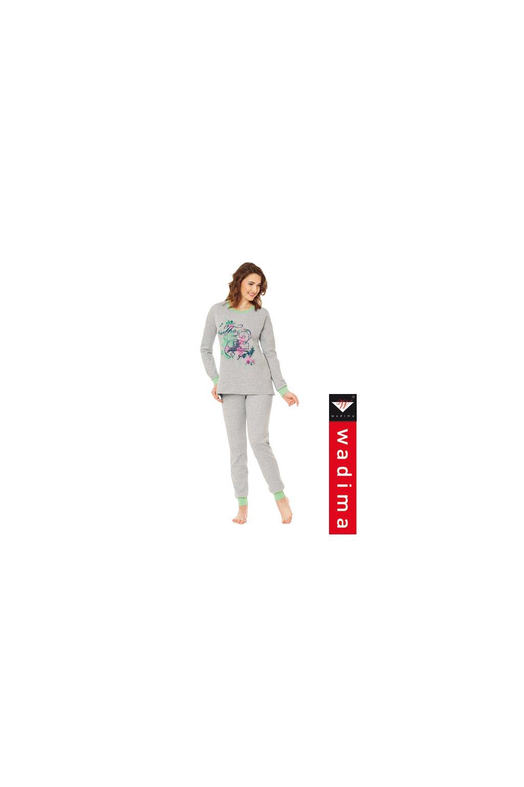 Dámské pyžamo s dlouhým rukávem, 104340 30, šedá