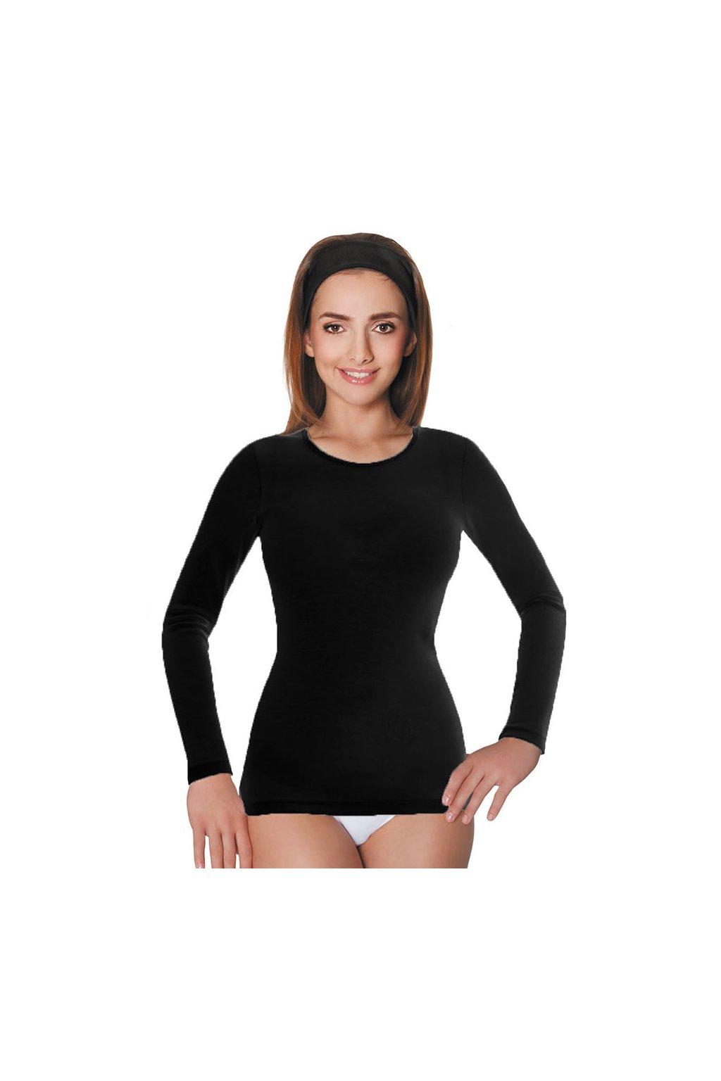 Dámská košilka s dlouhým rukávem, 10248 29, černá