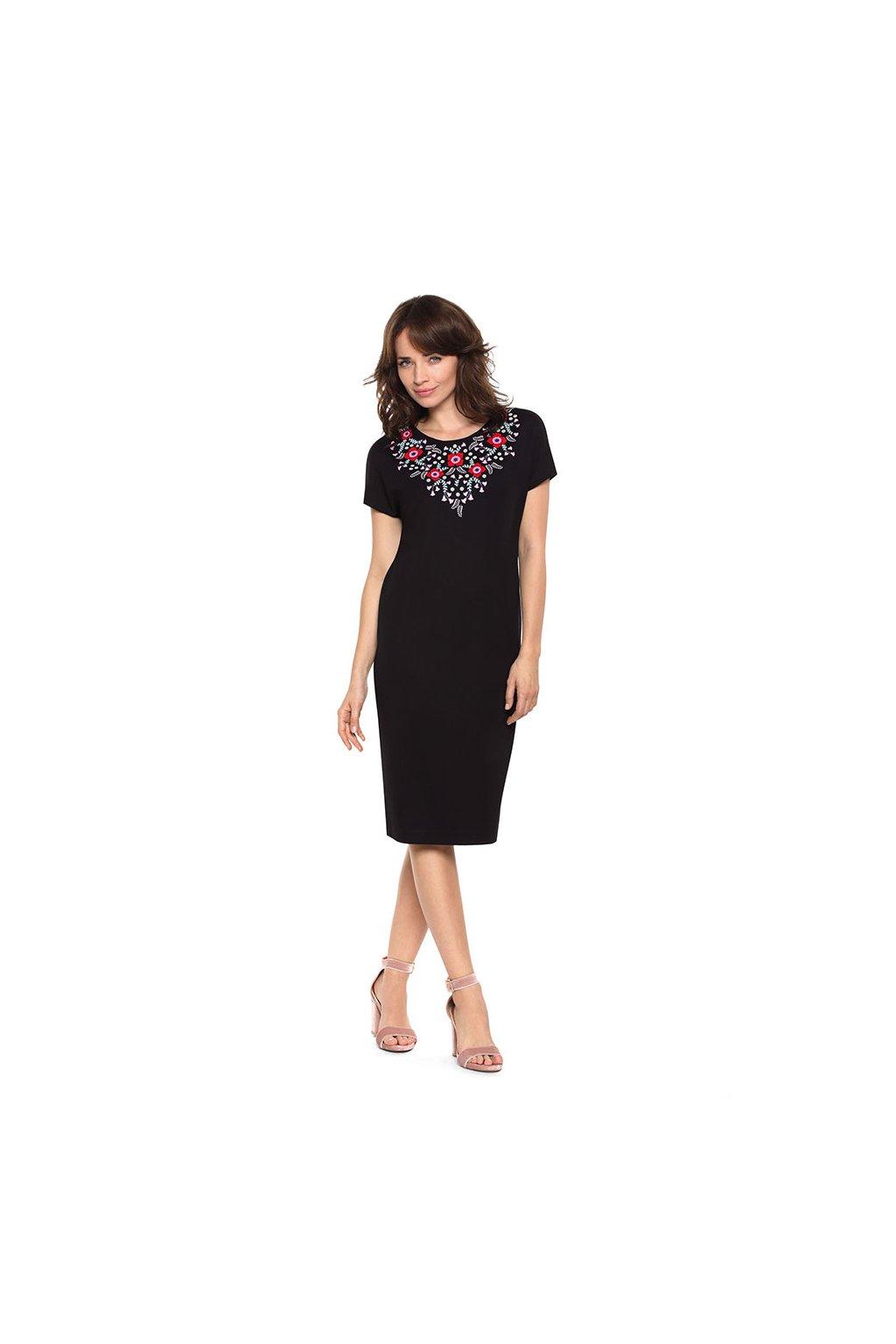 Dámské šaty s krátkým rukávem, 10599 29, černá