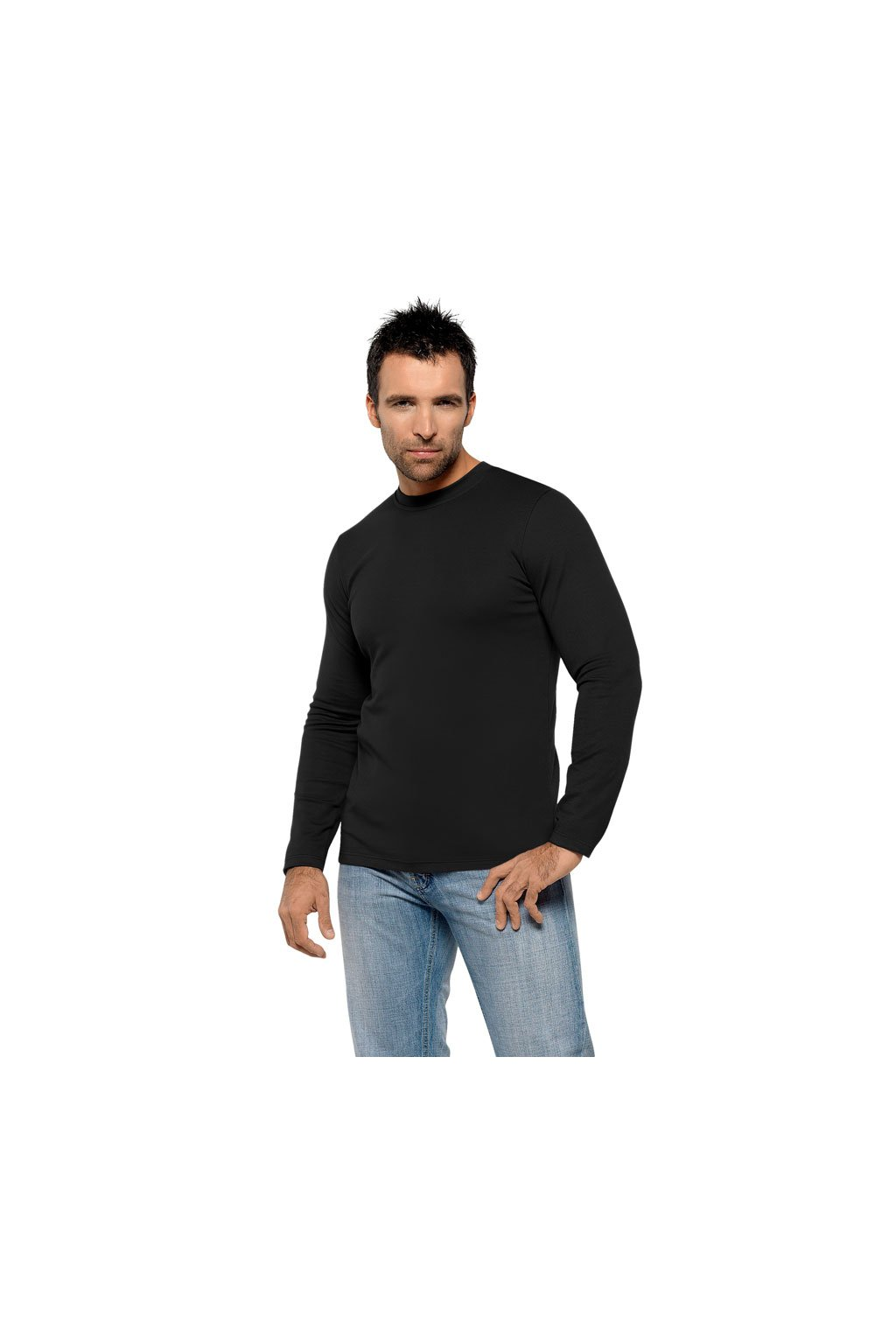 Pánské tričko s dlouhým rukávem, 20308 29, černá