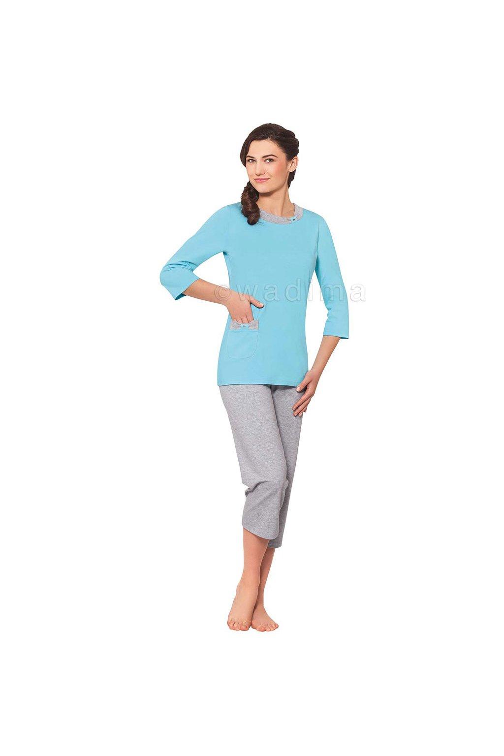 Dámské pyžamo s 3/4 rukávem, 104311 510, mix barev