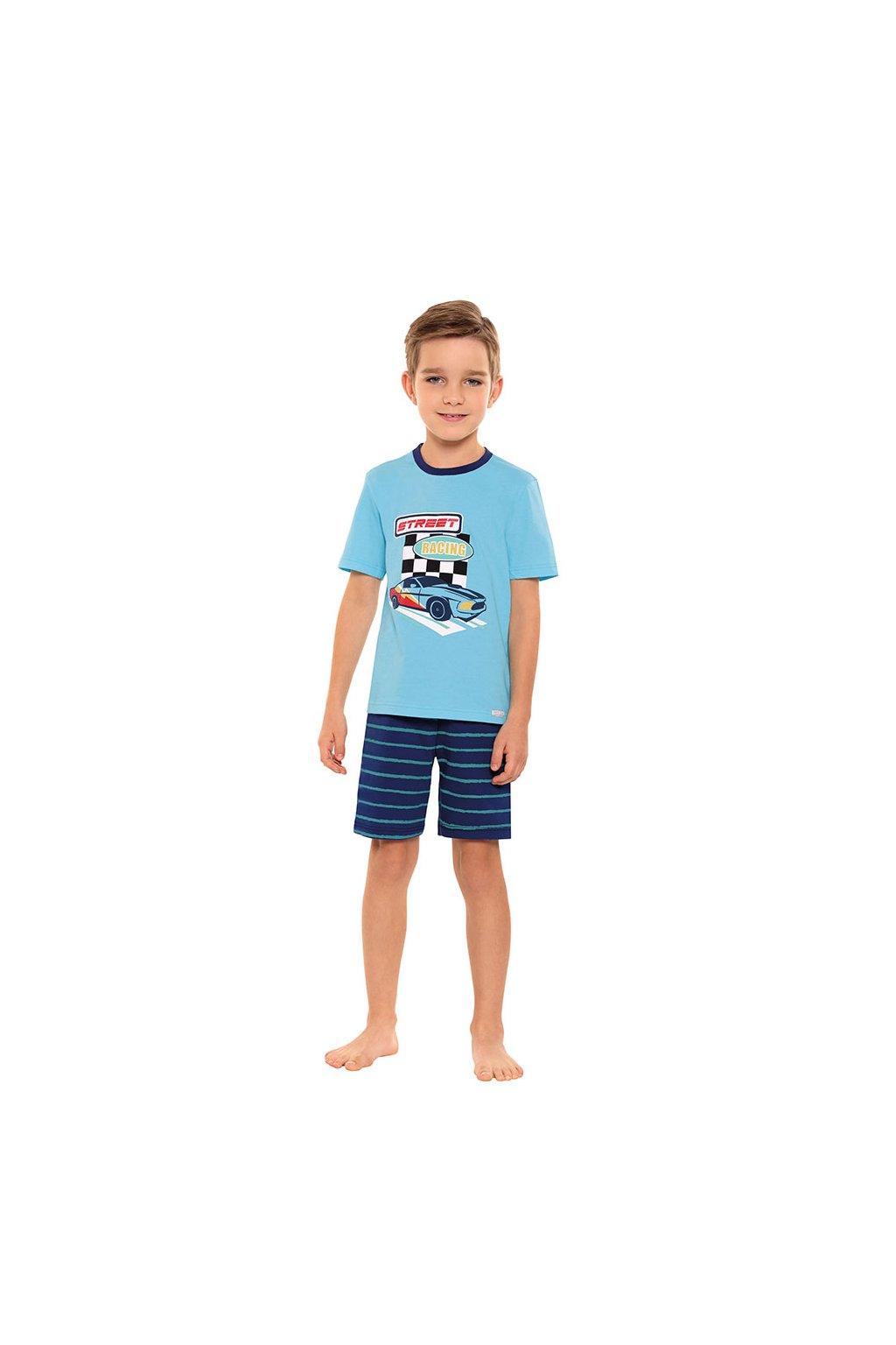 Chlapecké pyžamo s krátkým rukávem, 504100 54, tyrkysová