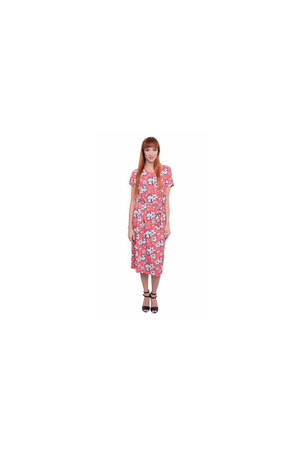 Dámské šaty s krátkým rukávem, 1N504 435, malinová
