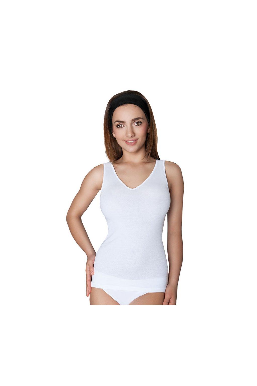 Dámská košilka se širokými ramínky, 10241 1, bílá