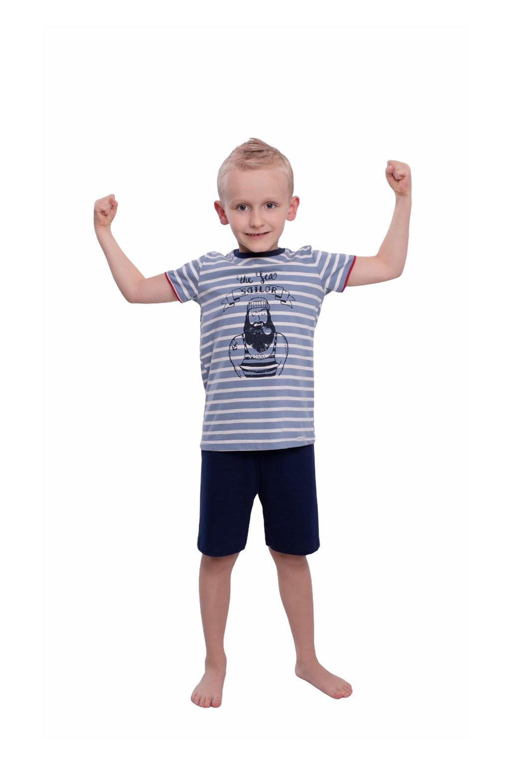 Chlapecké pyžamo s krátkým rukávem, 504106 472, modrá