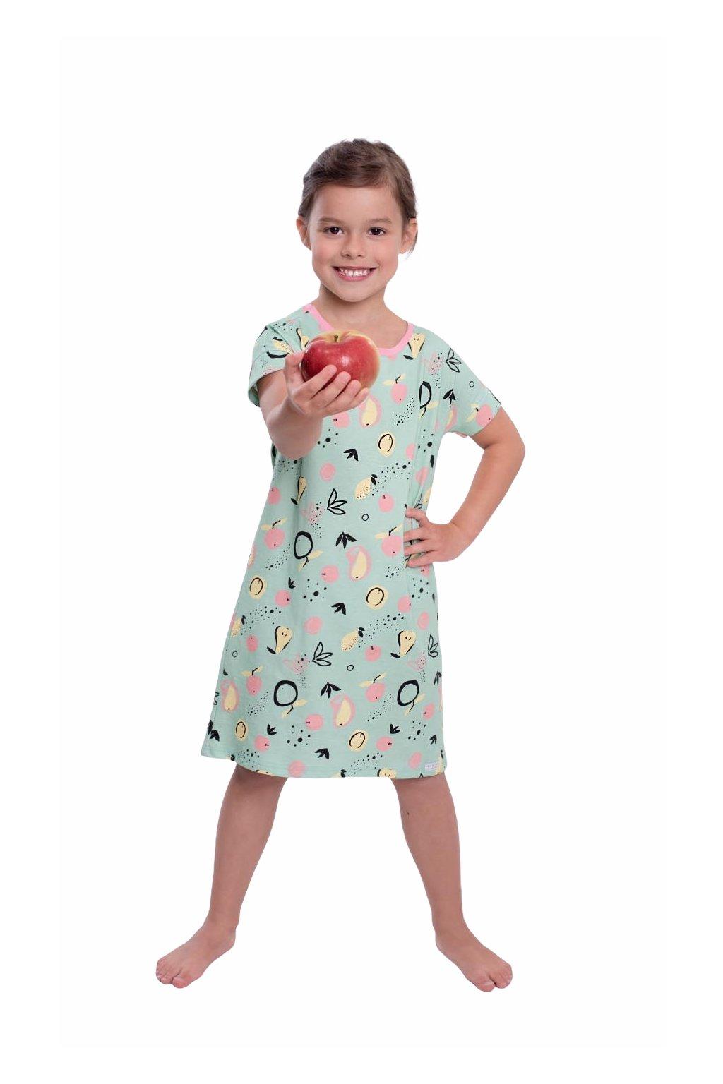 Dívčí noční košile s krátkým rukávem, 404165 13, zelená