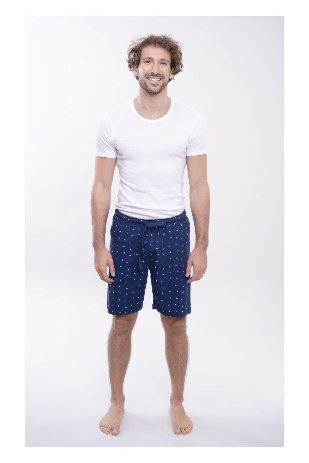 Pánské pyžamové kalhoty s krátkými nohavicemi, 204123 28, modrá