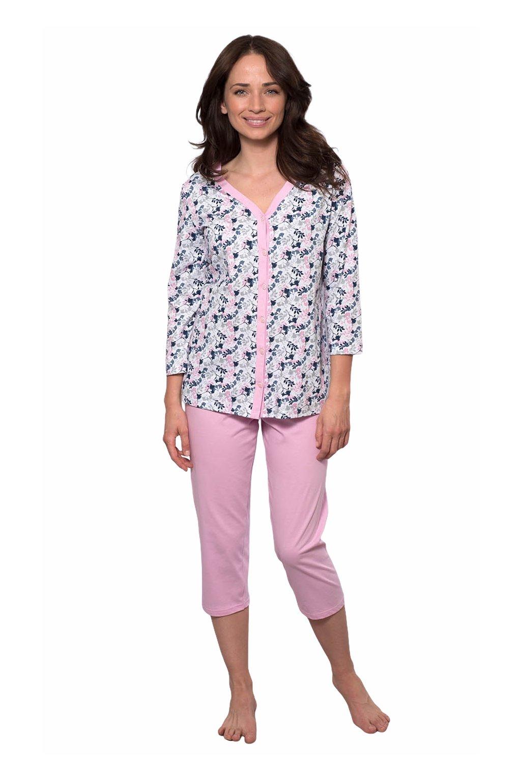 Dámské pyžamo s 3/4 rukávem, 104496 489, růžová