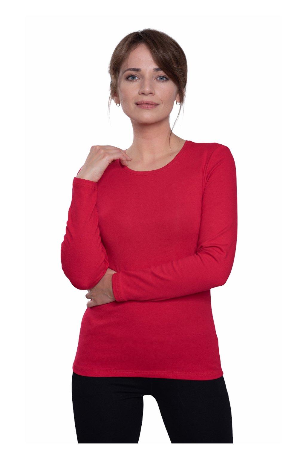 Dámská halenka s dlouhým rukávem, 103535 186, červená