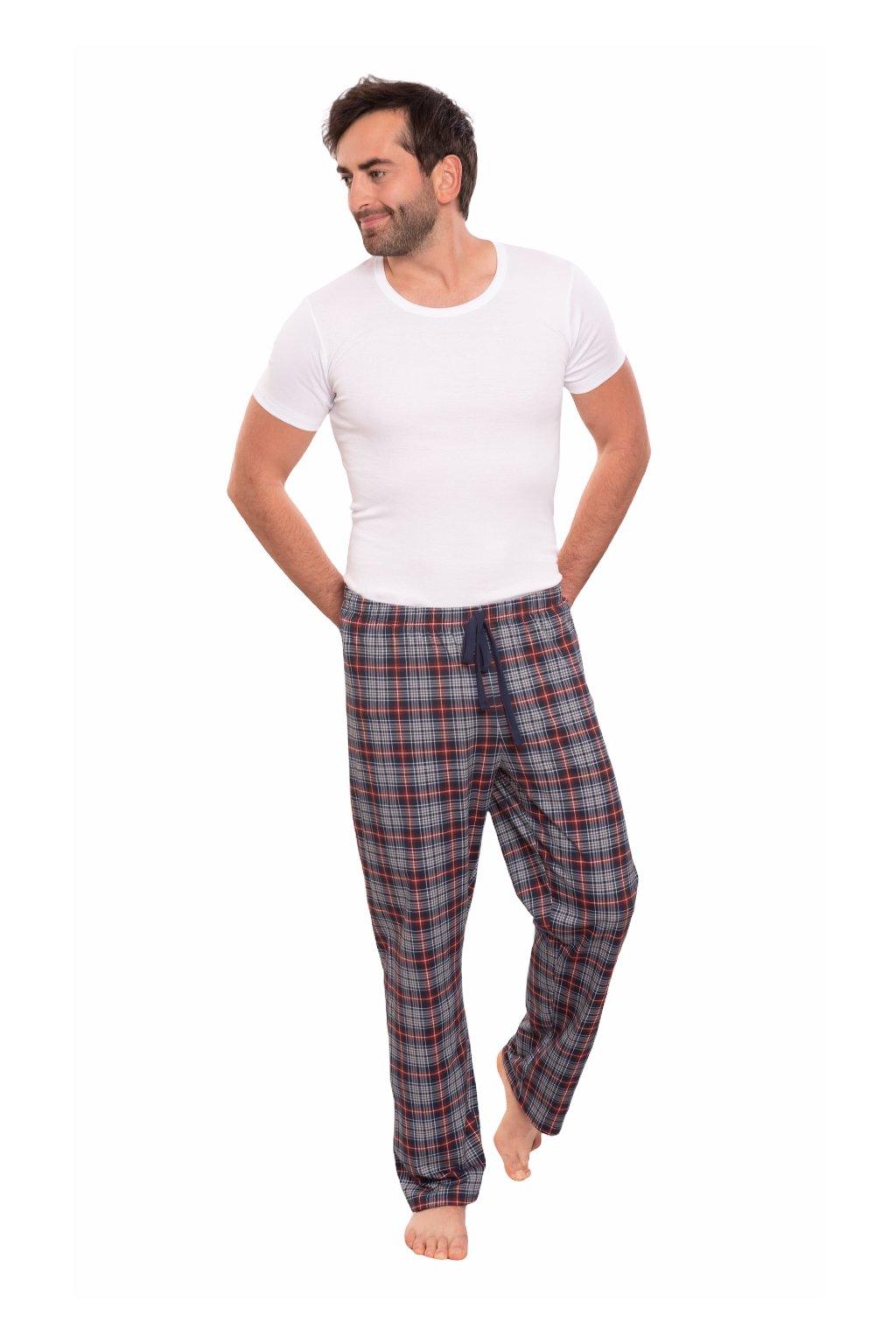 Pánské pyžamové kalhoty s dlouhými nohavicemi, 204128 28, modrá