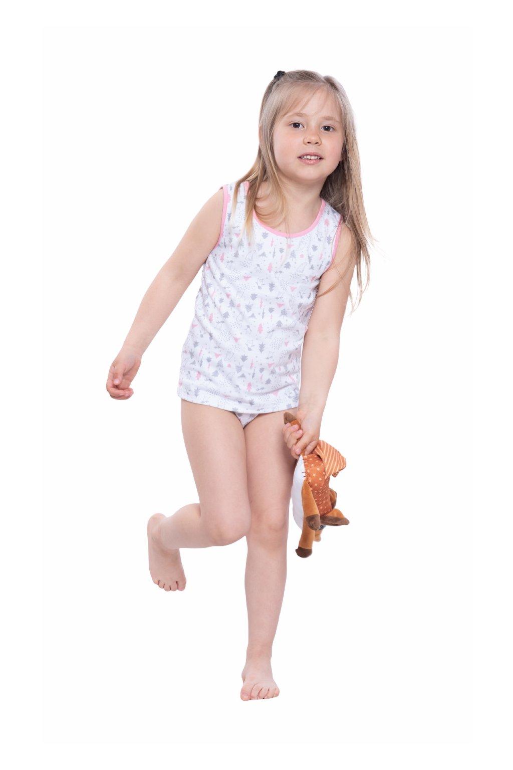 Dívčí košilka se širokými ramínky, 40258 199, růžová