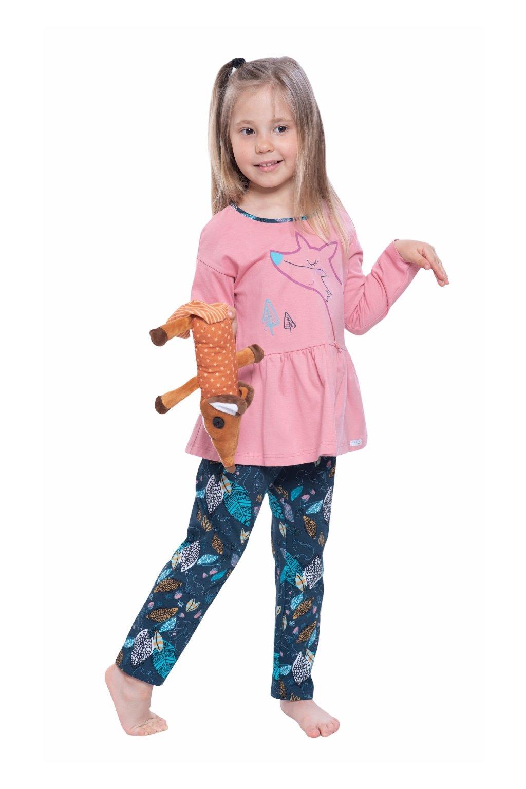 Dívčí pyžamo s dlouhým rukávem, 404171 62, růžová