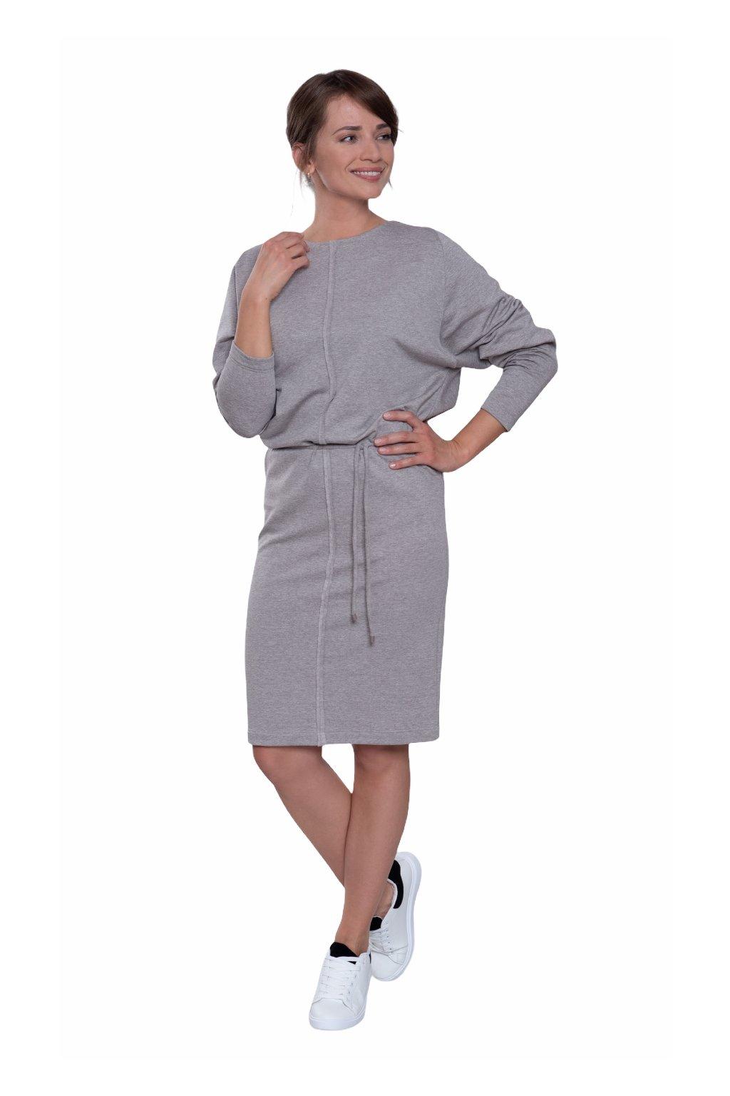 Dámské šaty s dlouhým rukávem, 105144 420, béžová