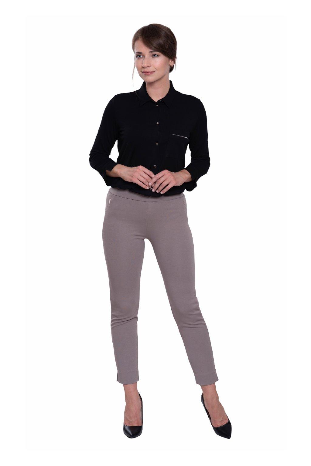 Dámské kalhoty se 7/8 nohavicemi, 10124 497, béžová