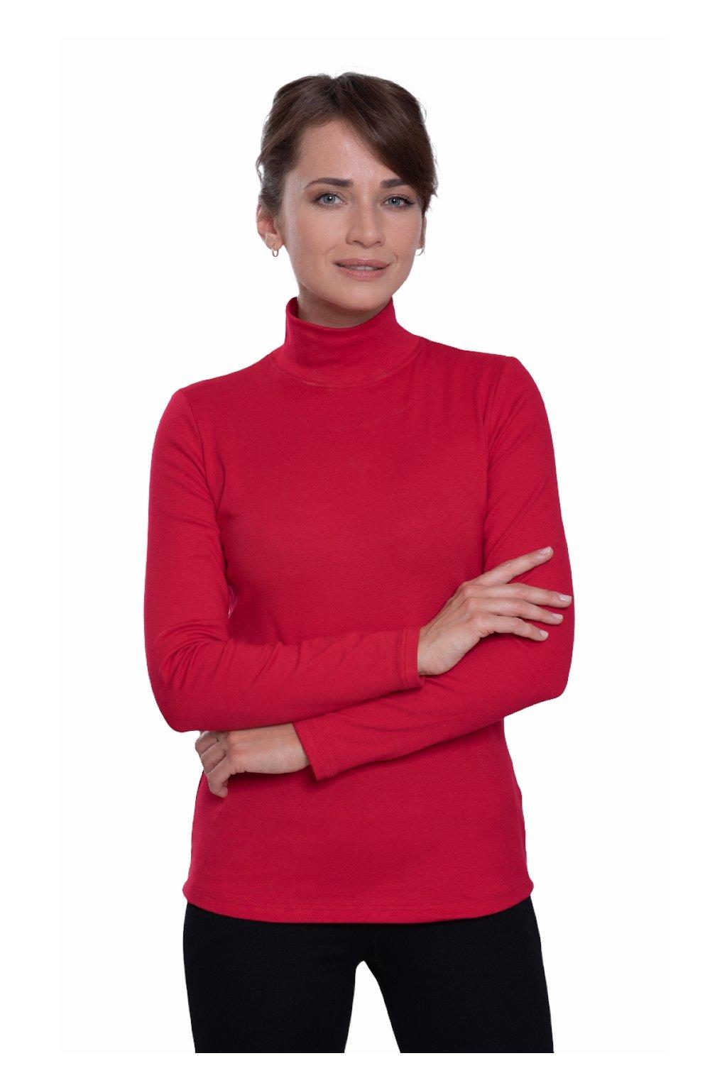 Dámská halenka s dlouhým rukávem, 10329 186, červená