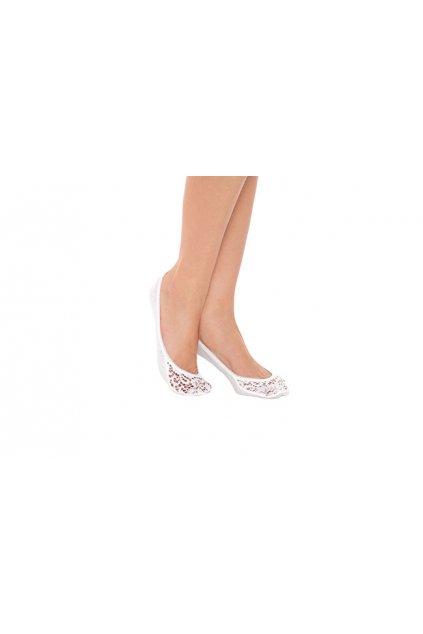 Ponožky do balerín, 1A004 1, bílá