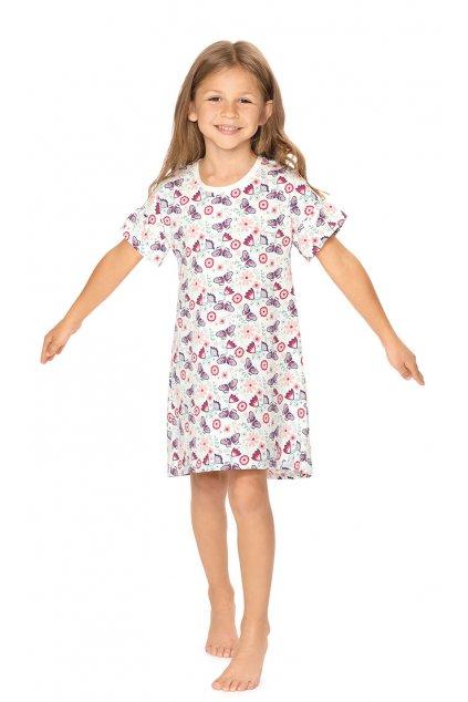 Dívčí noční košile s krátkým rukávem, 404162 84, smetanová