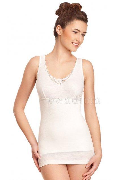 Dámská košilka se širokými ramínky, 1R2001 3, smetanová