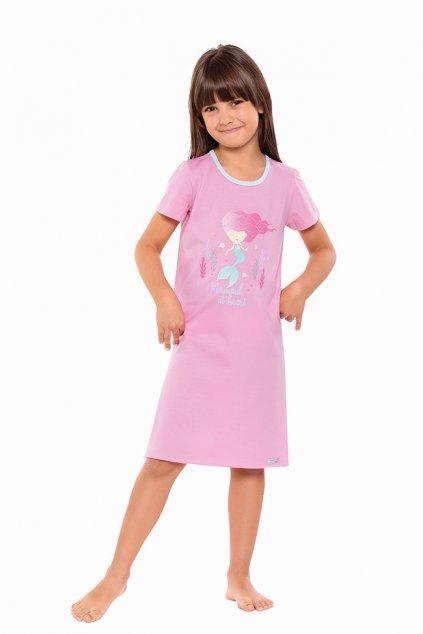 Dívčí noční košile s krátkým rukávem, 404153 366, růžová