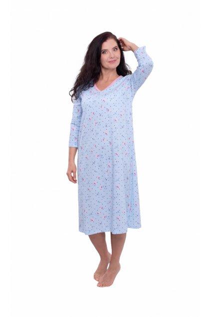 Dámská noční košile s 3/4 rukávem, 104573 167, modrá