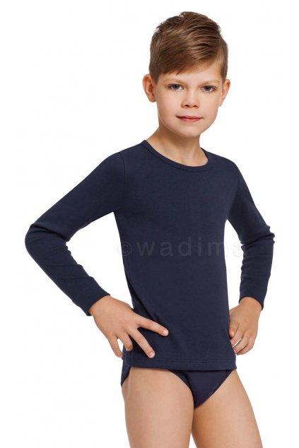 Chlapecký nátělník s dlouhým rukávem, 30202 28, modrá