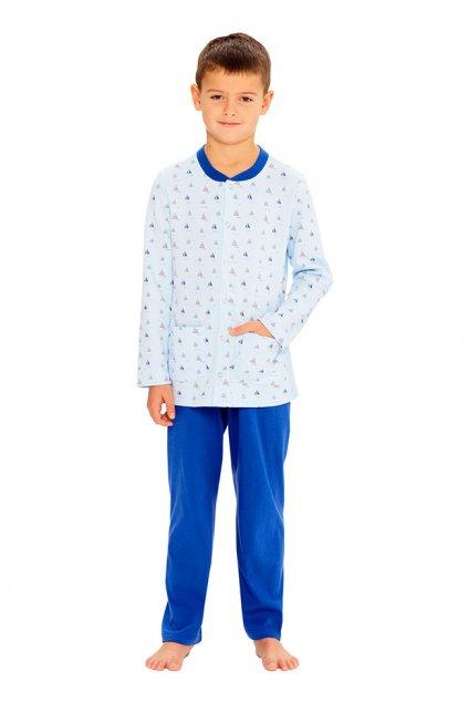 Chlapecké pyžamo s dlouhým rukávem, 50491 882, modrá
