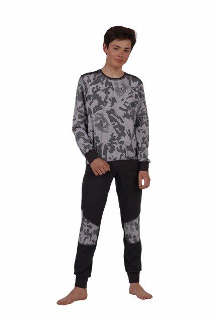 Chlapecké pyžamo YOUNG FASHION s dlouhým rukávem, 60446 907, šedá