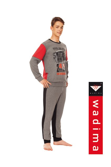 Chlapecké pyžamo, 60436 848, grafitová/černá/červená