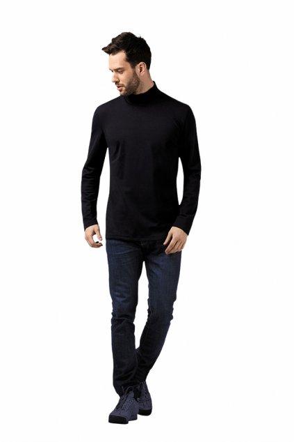 Pánské tričko s dlouhým rukávem, 20314 29, černá