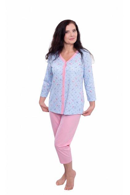 Dámské pyžamo s 3/4 rukávem, 104575 167, modrá
