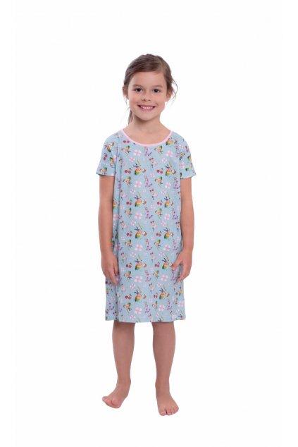 Dívčí noční košile s krátkým rukávem, 404167 88, tmavě modrá