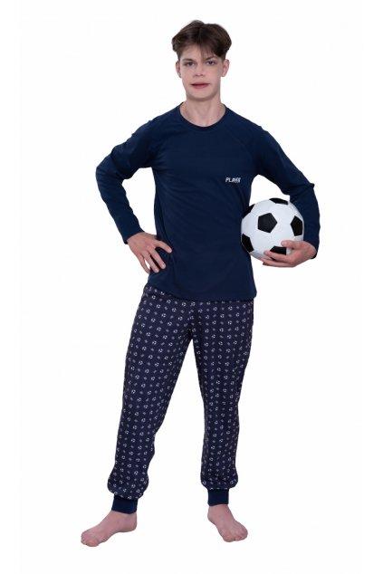 Pyžamo YOUNG FASHION s dlouhým rukávem, 60449 28, modrá