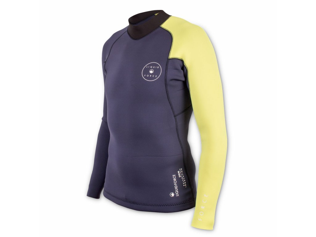neoprene eco suit 2mm navy yellow