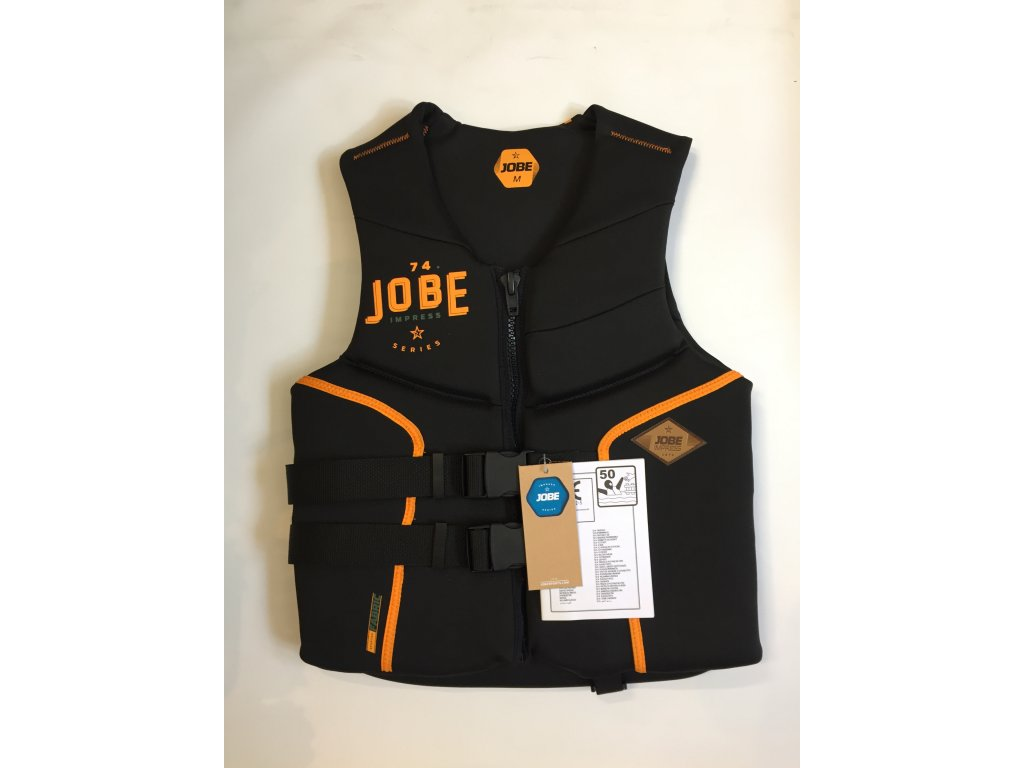 Jobe impress segmented neo orange (Velikost vesty M)