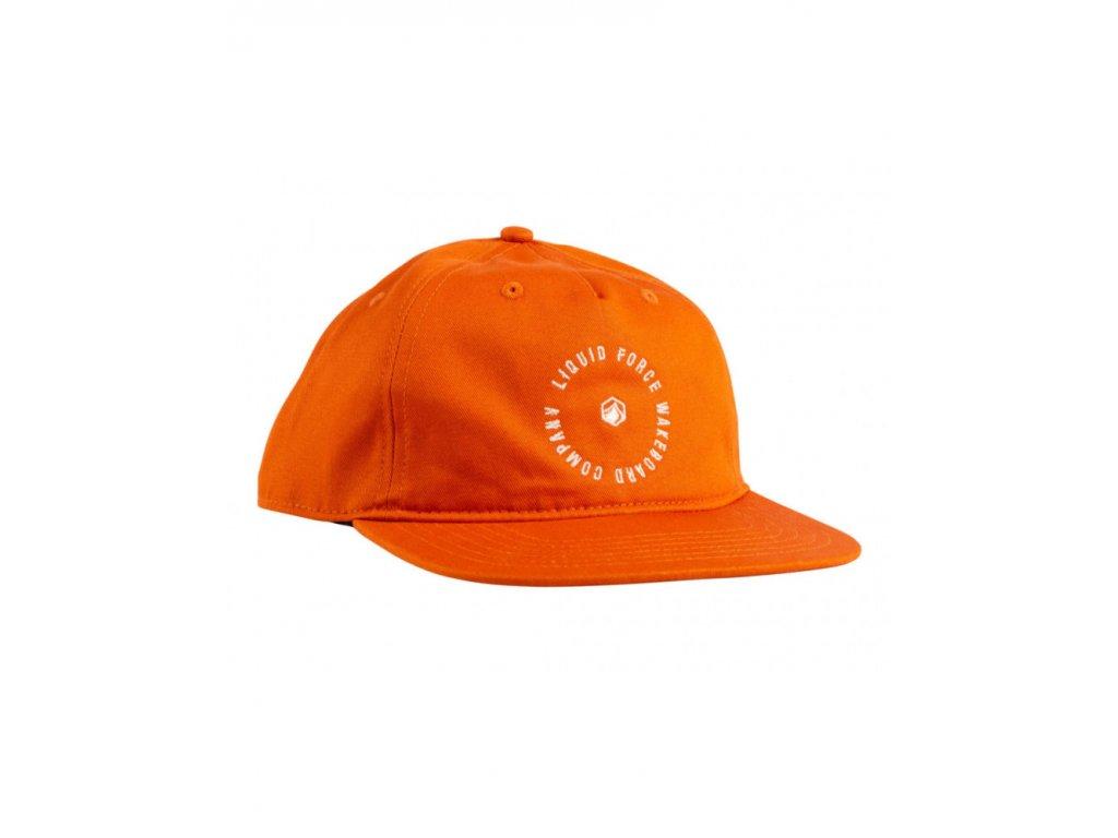 liquid force 2021 radial orange cotton snapback