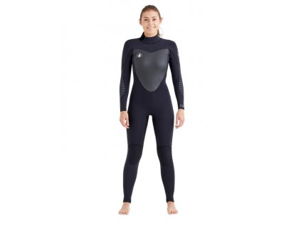 15113w blk Eos Back Zip 3 2mm Fullsuit front 600x