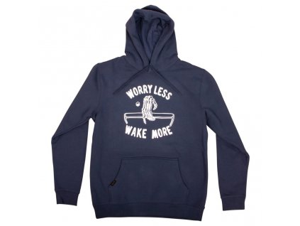 hoodie worry less navy front 1024x1024