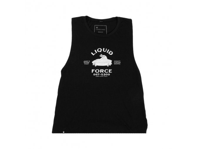 w muscle tee custom black front