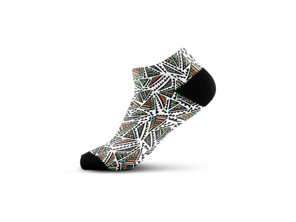 Walkee barevné kotníkové ponožky - Pyramid