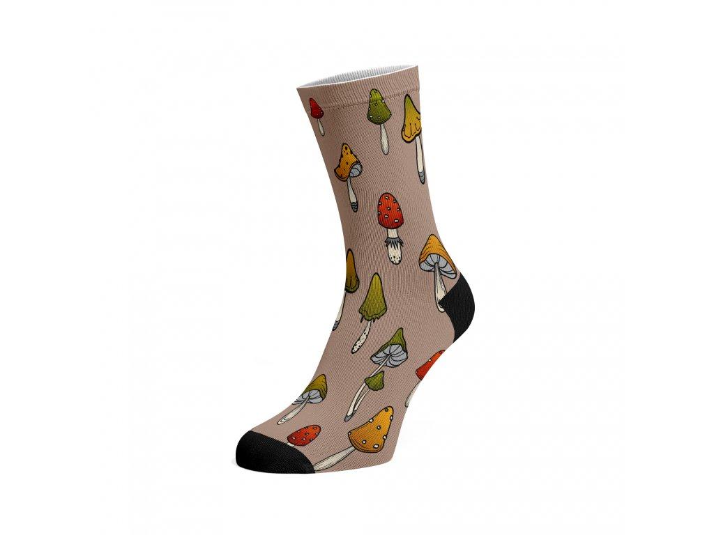 Walkee barevné ponožky - Houby
