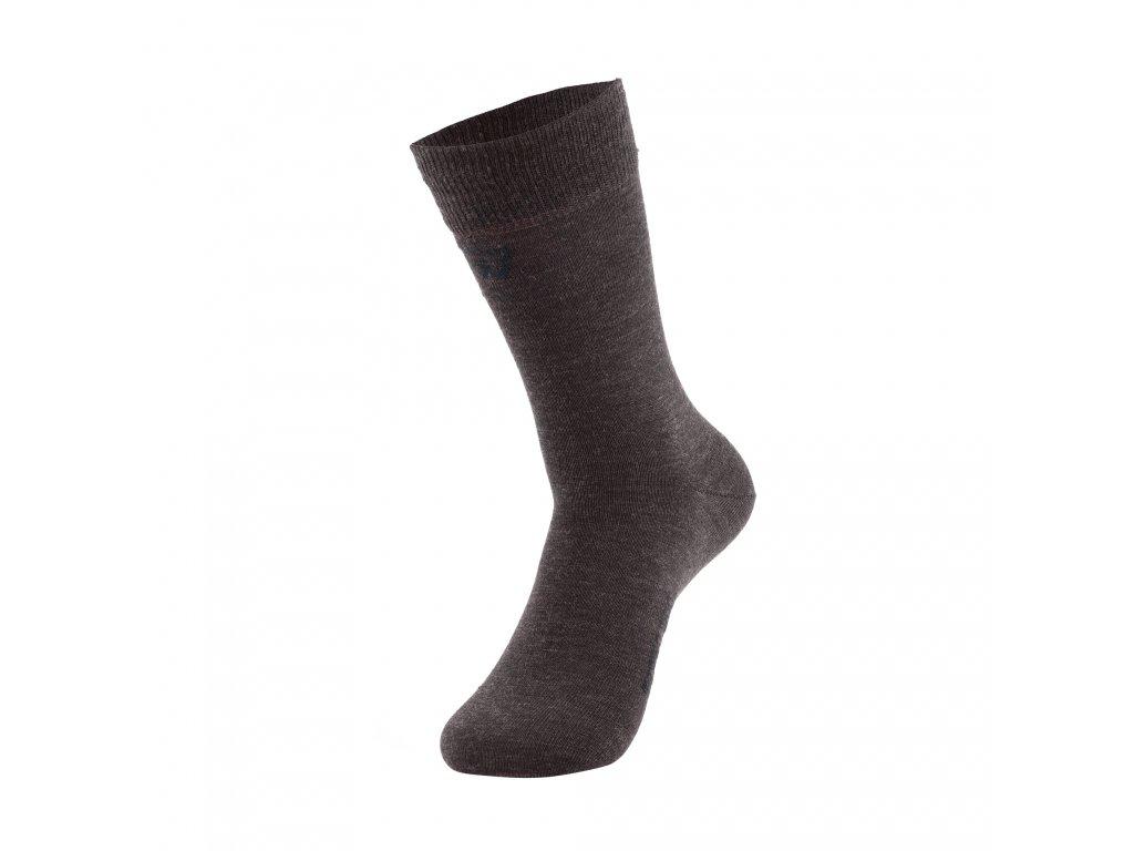 Walkee ponožky z merino vlny - hnědé